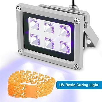 Kacsoo - Luz de curado de resina UV para impresora 3D de 405 nm ...