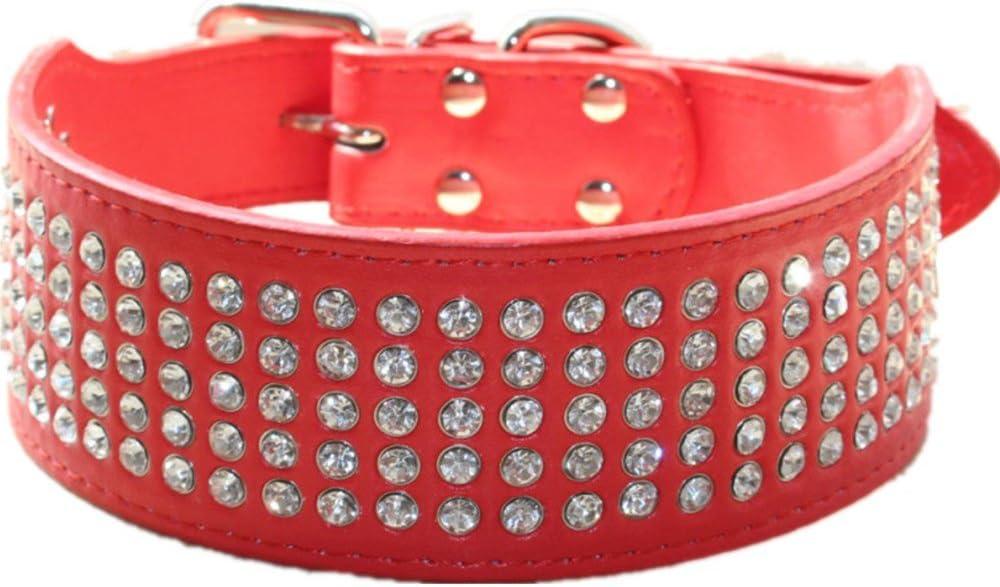 collares bonitos para perros con falsos diamantes