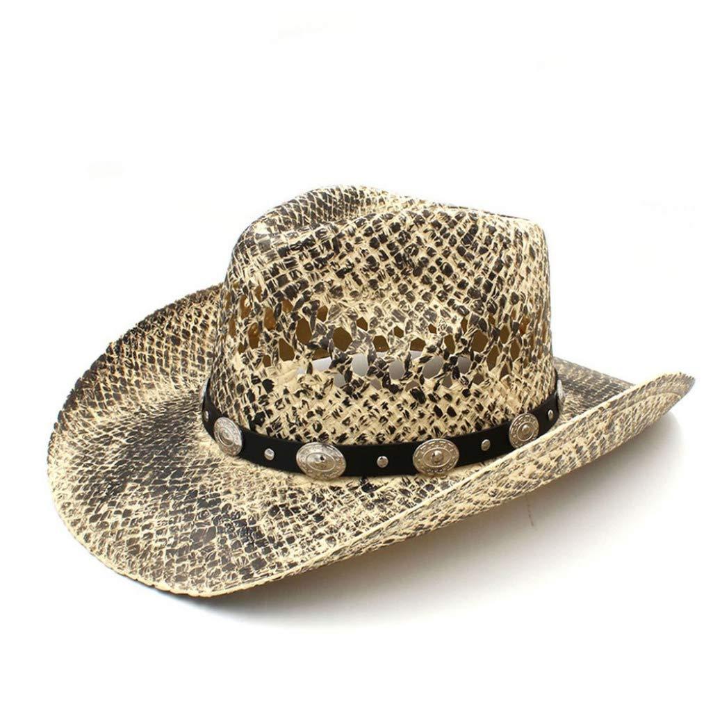2019 Straw Women Men Sun Hat Weave Lady Sumer Beach Sombrero Hombre Western Cowboy Caps Tassel Band Size 56-58CM