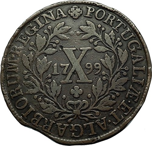 1799 PT 1799 Portugal Queen Maria I Authentic Antique 10 coin - Portugal Shop Online