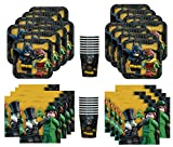 Lego Batman Movie Birthday Party Supplies Bundle Pack for 16 Guests