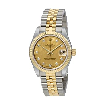 Amazon Com Rolex Oyster Perpetual Datejust 18 Carat Yellow Gold
