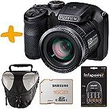 "Bundle Fuji S4800 Black Digital Camera +Case +Samsung 16GB +NiMh Batteries & Charger (Fujifilm Finepix S4800HD 16MP 3"" LCD 30x Super Zoom Bridge Camera)"