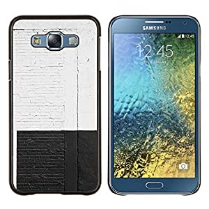 Stuss Case / Funda Carcasa protectora - Blanco Negro Pared de ladrillo rústico Calle Graffiti - Samsung Galaxy E7 E700