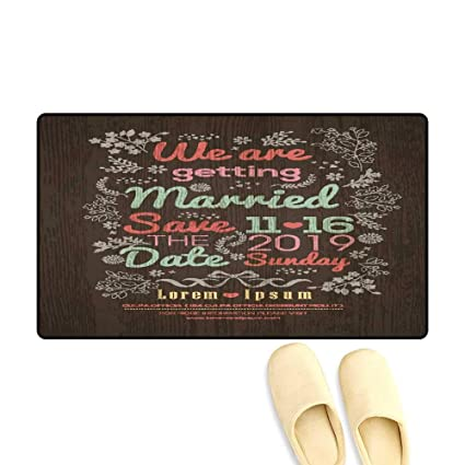 Amazon DoormatFloral Wedding Invitation Card Design Template