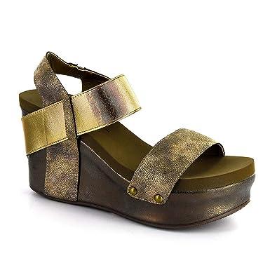 e656292fac0e Corkys Women s Agnus Wedge Sandal (6 M US