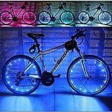 Baiyu USB Rechargeable Bike Bicycle Spoke Lights Waterproof 2 Modes Cycling Wheel Tire Lights Steel Wire rim 20 LED Flash Light / Lamp Bike Accessory (Including batteries) -- Blue