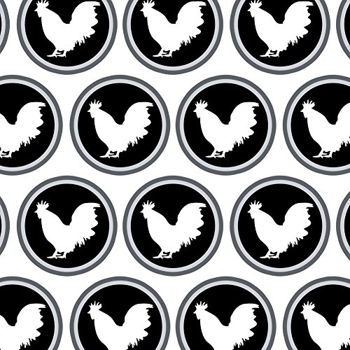 Premium Gift Wrap Wrapping Paper Roll Birds and Raptors - Rooster Cock ()