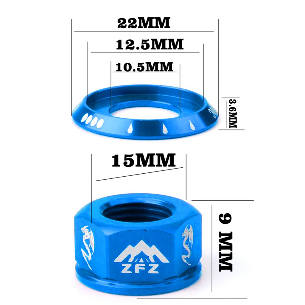 MagiDeal 2Pcs Track Axle Nuts Bicycle Wheel BMX Road Track Fixie Vintage Rear//Front M10 Drums Screws