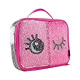Style.Lab by Fashion Angels Magic Sequin Lunch Tote - Winky Eyes/Silver Holo