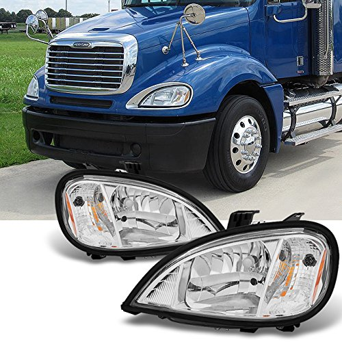 2004-2013 Freightliner Columbia semi-trailer Truck Driver LH Left & Passenger RH Right Headlights