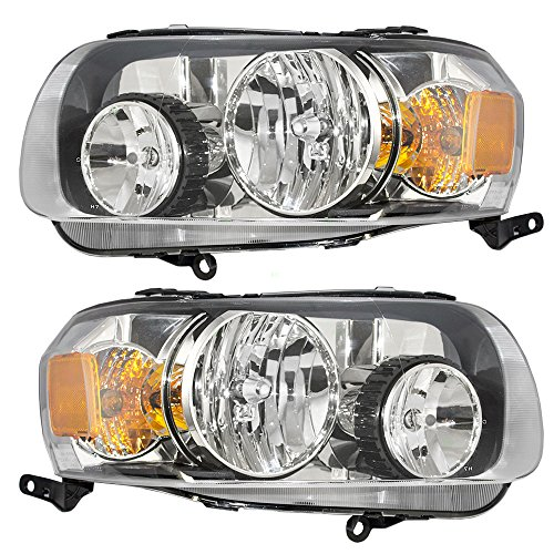 Headlights Headlamps Driver and Passenger Replacements for 04-06 Toyota Highlander SUV 81130-48280 81170-48280