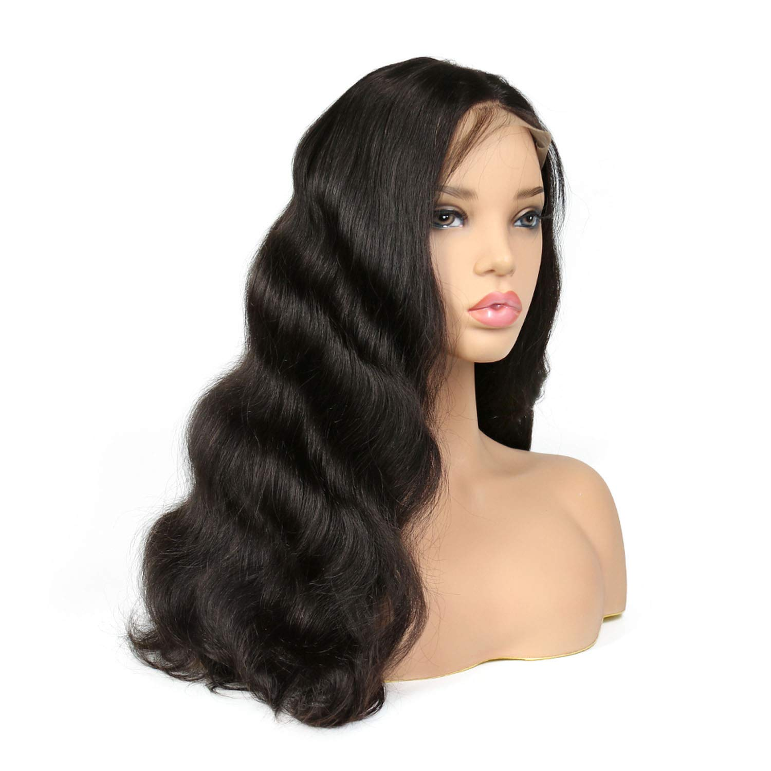 Glad You Came 250% Density Lace Front Human Hair Wigs For Black Women Body Wave Brazilian Remy Hair Lace Wig With Baby Hair,16inches