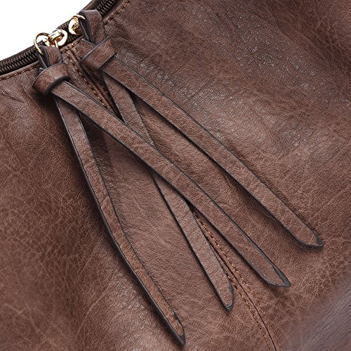Purses Brown Bags Hobo Totes Crossbody Women Shoulder Oversized Leather Stylish PU Handbags Winter 7qnTP