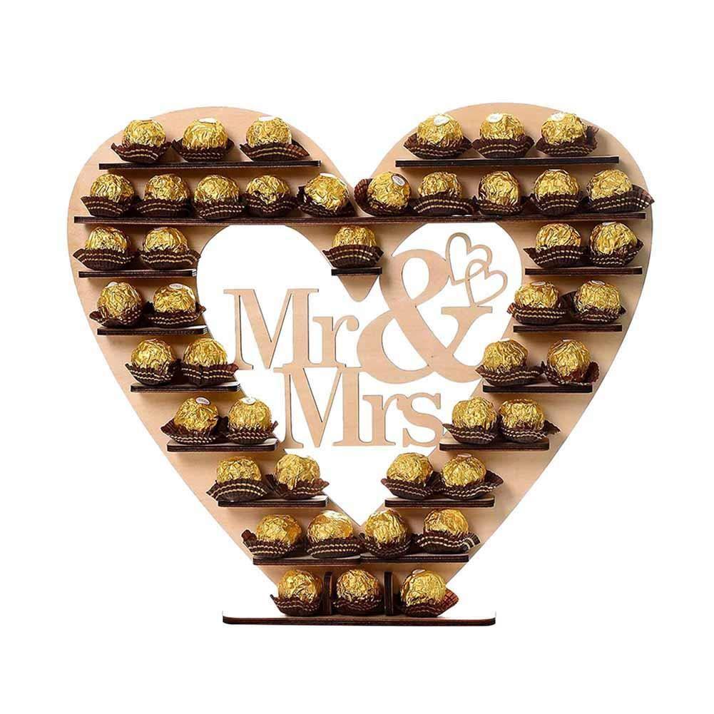 Sweet Love espositore per cioccolata matrimonio decorazioni in legno per nozze cuore espositore in legno