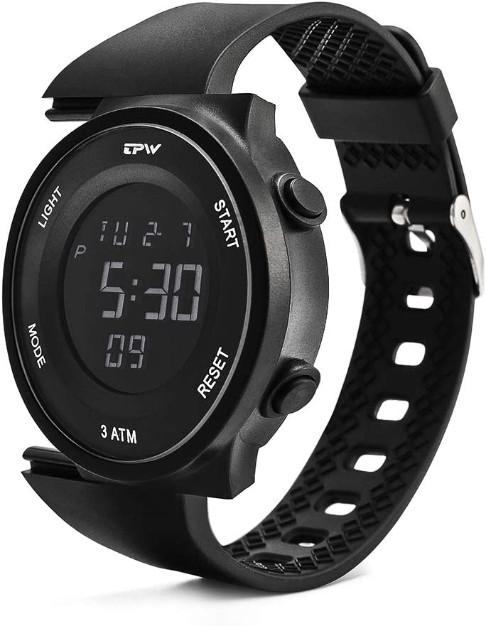 TPW Digital Sport Watch for Men Women K9001 2019 Military Watch 3ATM Waterproof Wrist Watch LCD Screen Backlight with Stopwatch, Alarm, Time Setting