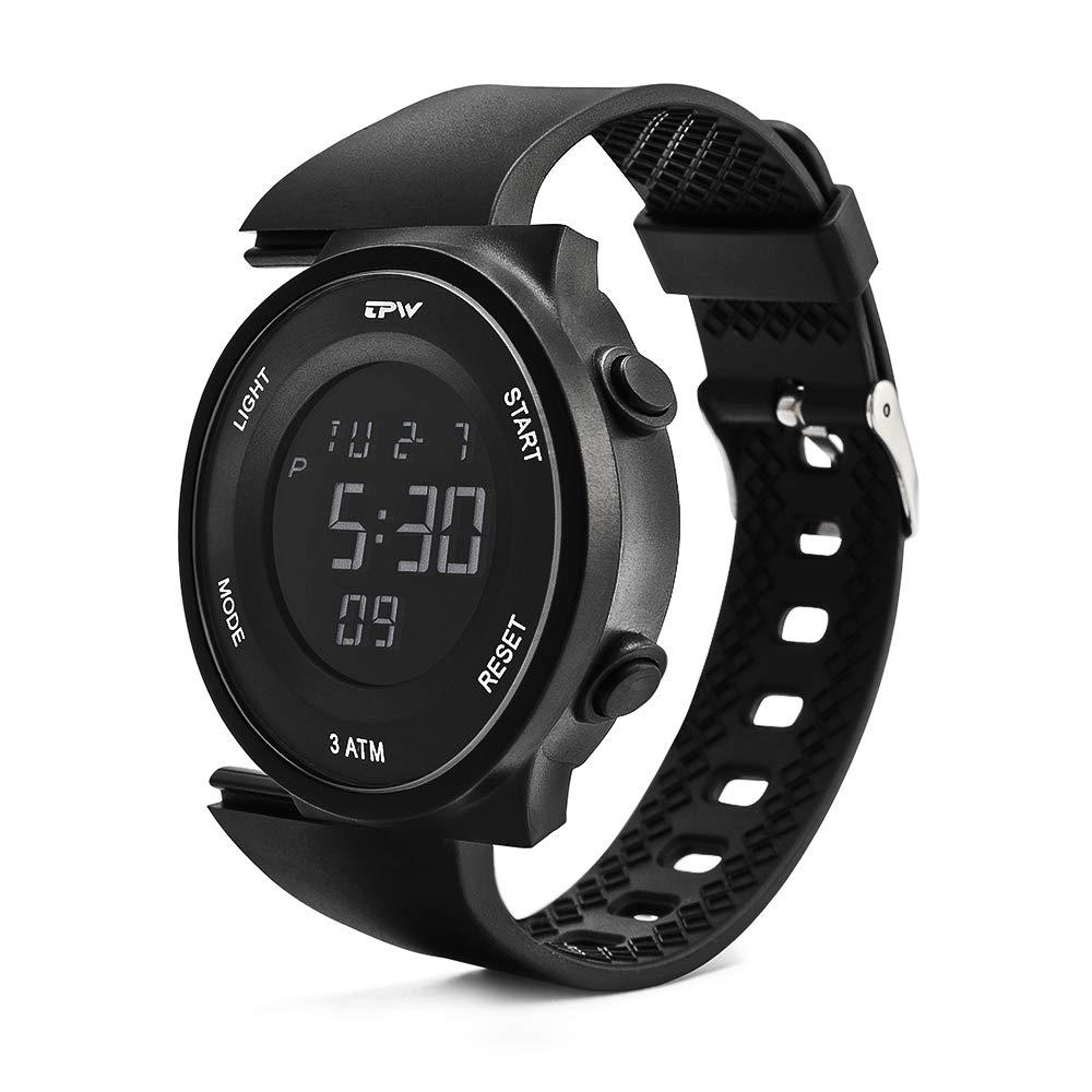 TPW Digital Sport Watch for Men Women K9001 2019 Military Watch 3ATM Waterproof Wrist Watch LCD Screen Backlight with Stopwatch, Alarm, Time Setting