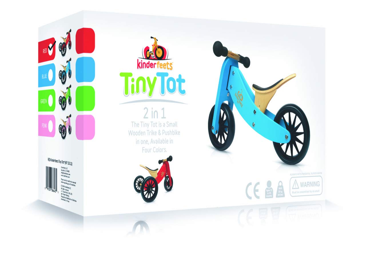 Kinderfeets TinyTot Wooden Balance Bike and Tricycle in 1! ages 12-24 months. PINK by Kinderfeets (Image #3)