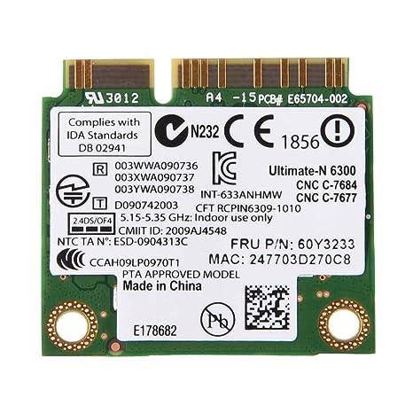 Pokerty Tarjeta PCI-E, Tarjeta Mini WiFi PCI-E de Banda Dual ...
