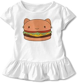 2-Pack Cotton Tee Corgi Silhouette Baby Girls Short Sleeve Ruffles T-Shirt Tops