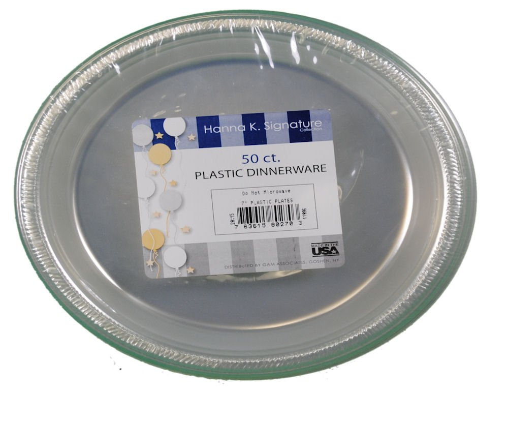 Amazon.com 50 ct Plastic Clear 7  Plates Wedding Party Dinnerware Kitchen u0026 Dining  sc 1 st  Amazon.com & Amazon.com: 50 ct Plastic Clear 7