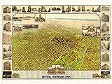 MAP DENVER COLORADO 1908 VINTAGE LARGE WALL ART PRINT POSTER PICTURE LF2000