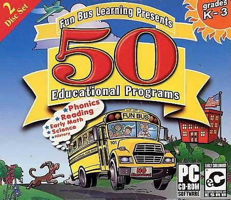 Fun Bus 50 Educational Programs Jewel Case by Educational Intiatives