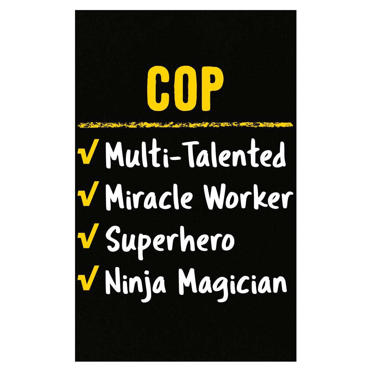 Amazon.com: Cop Talented Miracle Worker Superhero Ninja ...