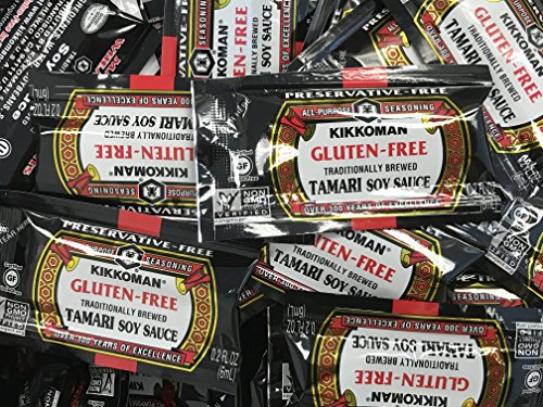 Kikkoman Gluten-Free Tamari Soy Sauce Single Portion Packs (50 Pack-6 mililiter) ()