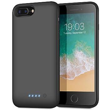 Kilponen Funda Batería para iPhone 6 Plus/ 6S Plus/ 7 Plus/ 8 Plus, 8500mAh Funda Cargador Portatil Batería Externa Ultra Carcasa Batería Recargable ...