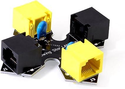 Throwing Star LAN Tap with RJ45 Capture Replica Monitoring Ethernet Haker Tool