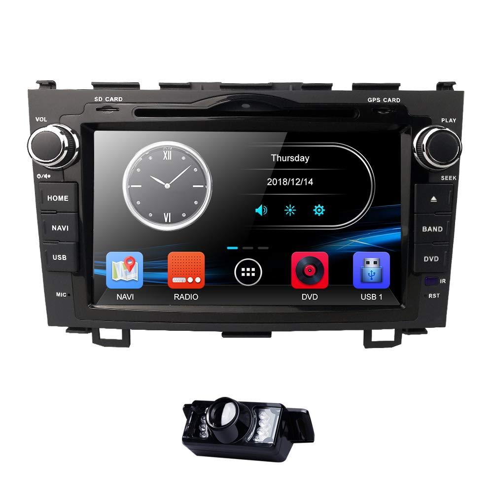 8 Inch for Honda CRV CR-V 2007 2008 2009 2010 2011 in Dash HD Touch Screen Car DVD Player GPS Navigation Stereo Bluetooth/SD/USB/RDS/FM/AM Radio/AV-IN/1080P/Mirrorlink Map Reverse BackupCamera