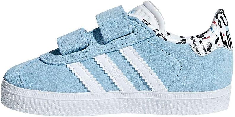 adidas Gazelle Baskets Mixtes pour bébé Bleu Taille 21