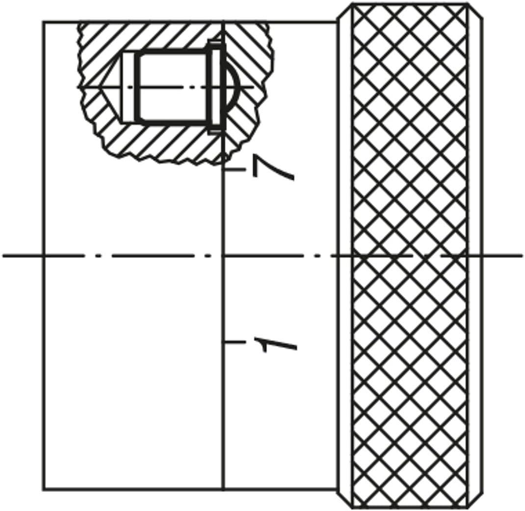1/pieza VPE = 25 k0333.10 productos: bola de acero inoxidable Kipp federndes Impresi/ón pieza lisa auf/ührung D = 10/L = 13,5/Acero Inoxidable