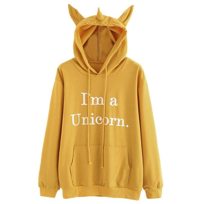 "K-youth® "" Im a Unicorn. Sudaderas con Capucha Manga"