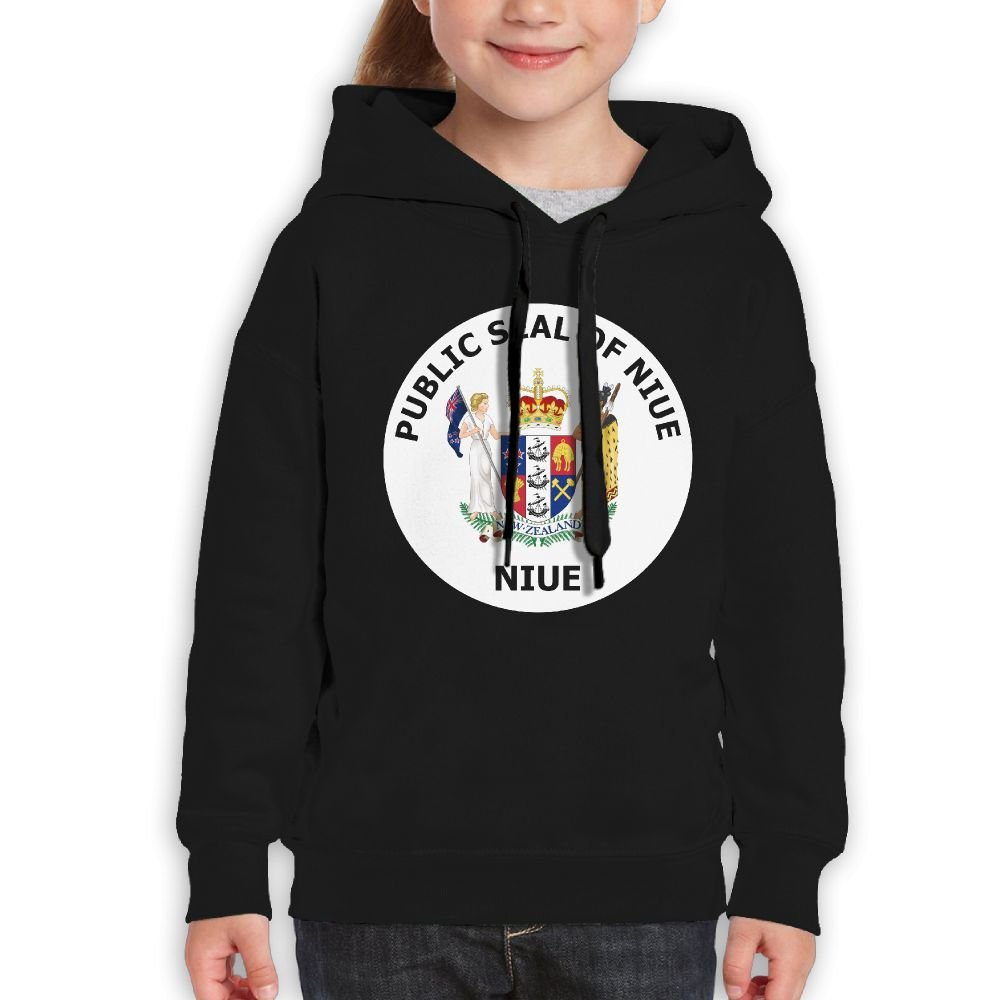 DTMN7 Public Seal Of Niue New Style Printed 100/% Cotton Top For Youth Spring Autumn Winter