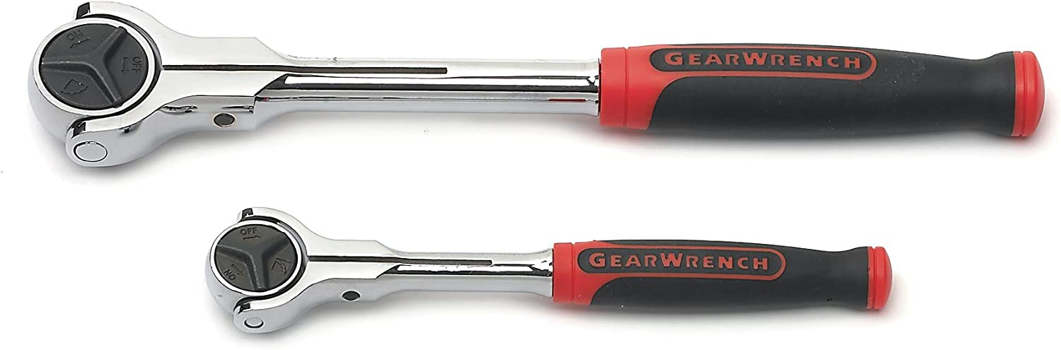 GearWrench Roto Ratchet Set 2 Piece Tool Ratchets 1//4 inch Drive Rotating Head
