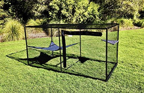 La Luna Pet Care Cat Enclosure | Cat Enclosure | Outdoor Cat Enclosure | Cat Play Pen | Indoor Outdoor Cat Tent | 47.2″ x 47.2″ x 94.4″