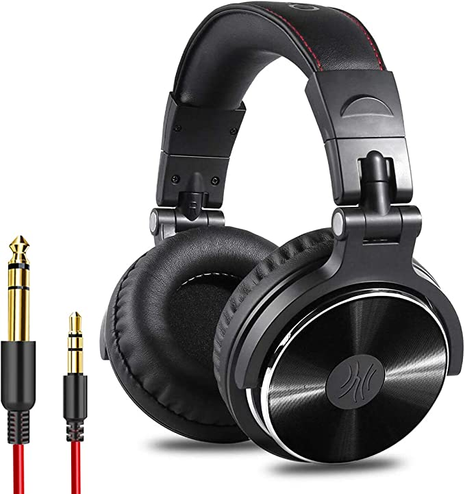 Amazon.com: OneOdio Adapter-Free Closed Back Over Ear DJ Stereo Monitor Headphones, Professional Studio Monitor & Mixing, Telescopic Arms with Scale, Newest 50mm Neodymium Drivers - Black: Electronics