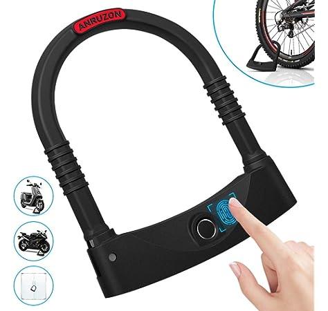 Bike Steel Wire Lock Fingerprint APP Unlock Bicycle Security Anti-theft Lock Hot