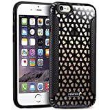 Fosmon (HYBO-PYRAMID) Apple iPhone 6s Plus / 6 Plus Case - Lightweight Hybrid PC+TPU (Shock-Absorbent) Case Cover for iPhone 6s Plus and 6 Plus (Black/Smoke)