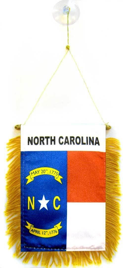 AZ FLAG BANDERIN de Carolina del Norte 15x10cm con Ventosa - BANDERINA Americana DE Carolina del Norte - EE.UU 10 x 15 cm para Coche: Amazon.es: Jardín
