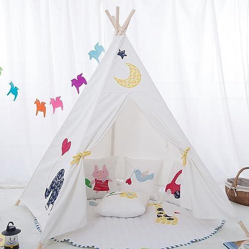 Tipi en éléphant de qualité supérieure Tente de jeu pour enfants / Cabane pour enfants / Tente indienne par integrity co (Blanc)