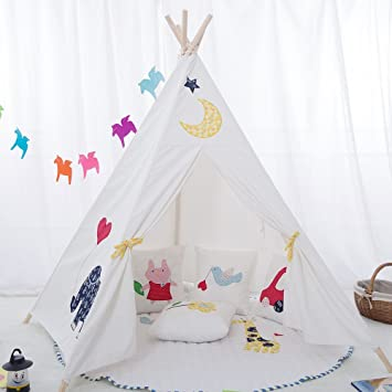 Childrenu0027s premium quality canvas Teepee. Kids play tent / playhouse / wigwam Tipi by integrity  sc 1 st  Amazon UK & Childrenu0027s premium quality canvas Teepee. Kids play tent ...