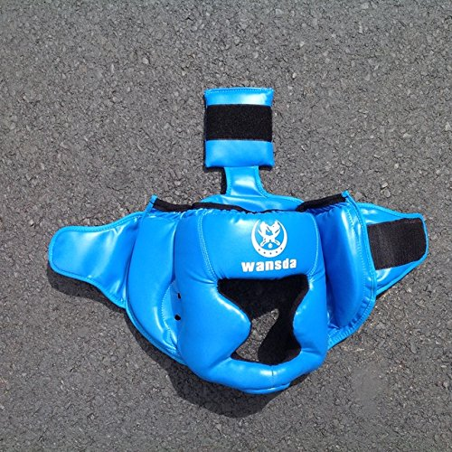 Replacement Blue Boxing and Jousting Helmet and Headgear with Reinforced Seams for Interactive Inflatable Fighting Arena or Ring Games, Universal Size by TentandTable (Image #1)