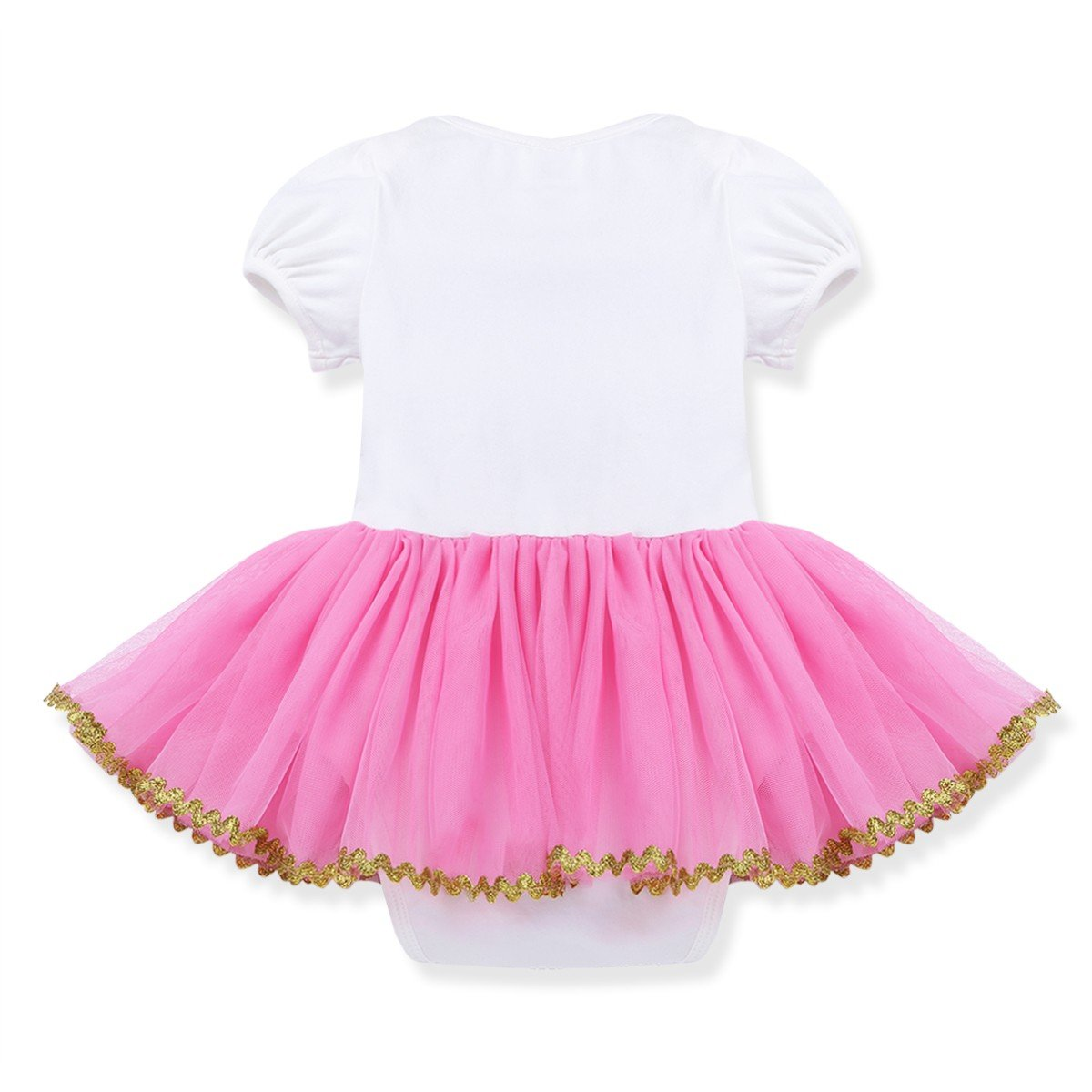 FEESHOW Infant Baby Girls Shiny One First//1st Birthday Outfit Tutu Romper Dress