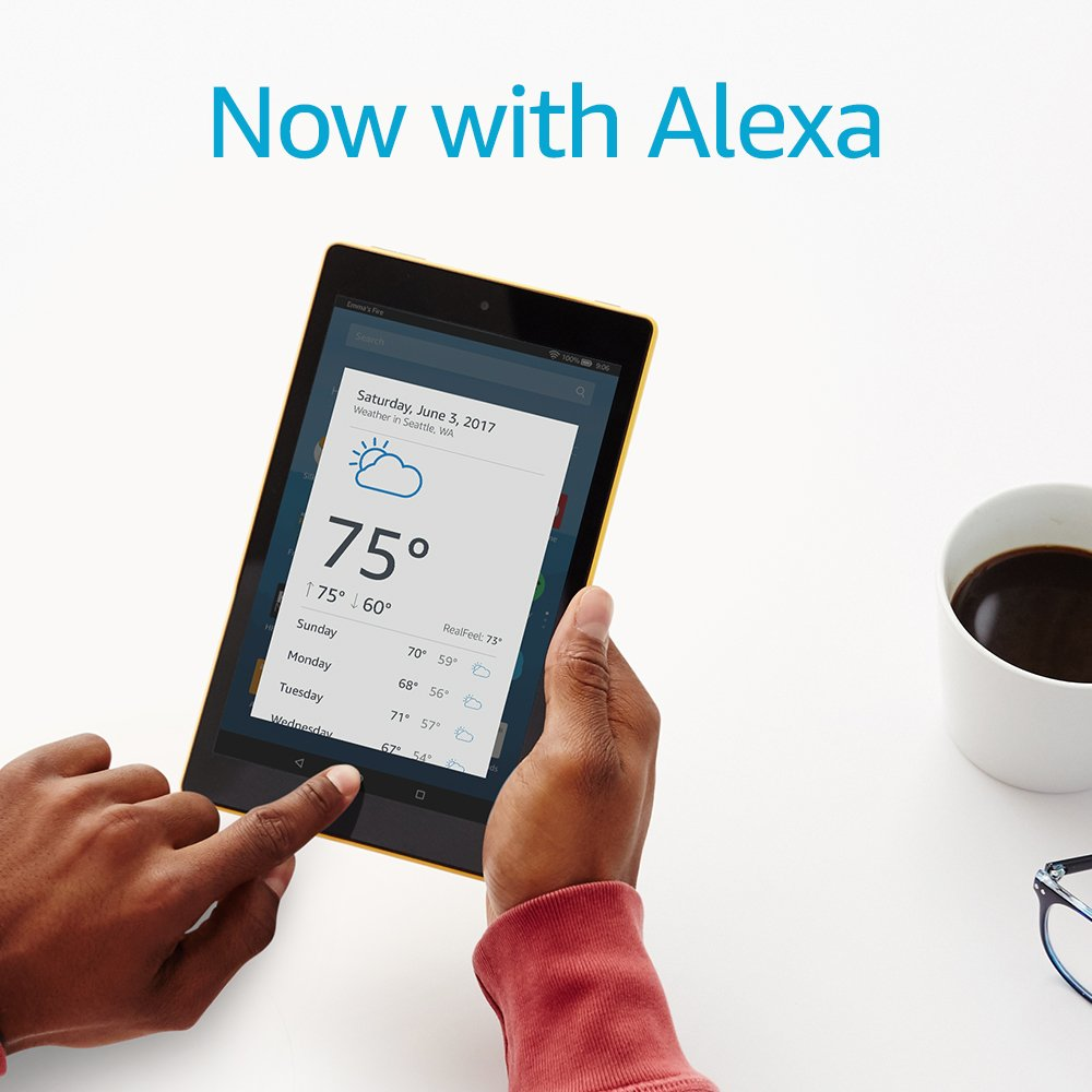 Certified Refurbished Fire HD 8 Tablet with Alexa, 8'' HD Display, 32 GB, Black - with Special Offers by Amazon (Image #4)