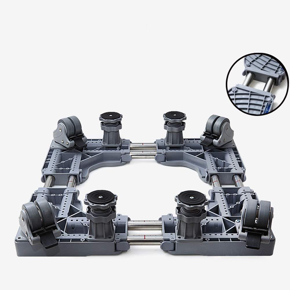 4連四重ブレーキ付多機能可動ベース、乾燥機用ユニバーサル移動ベース、洗濯機、冷蔵庫スタンド   B07LBQ9YC5