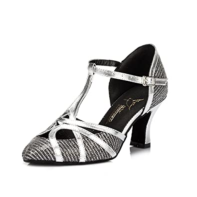 Meijili Women's Shoes Salsa Tango Modern Ballrom Latin Dance Shoes Black UK 4 EhQug