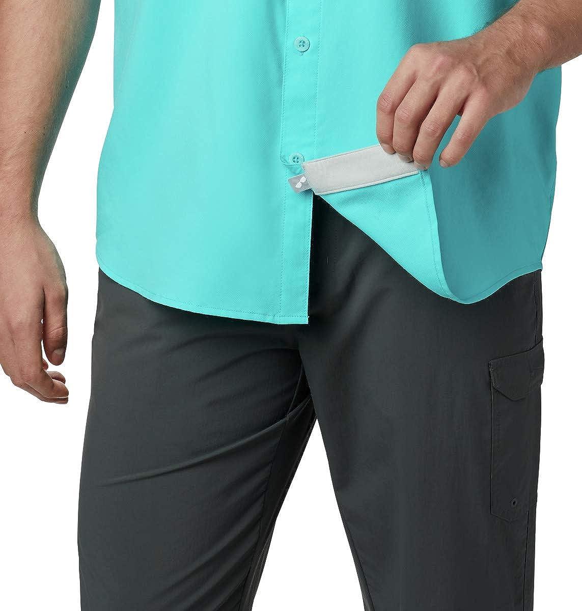 Waterproof Columbia Mens Blood and Guts III Short-Sleeve Sun Shirt